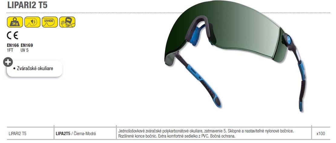 b0686293e Pracovné zváračské okuliare LIPARI2 T5 DELTAPLUS