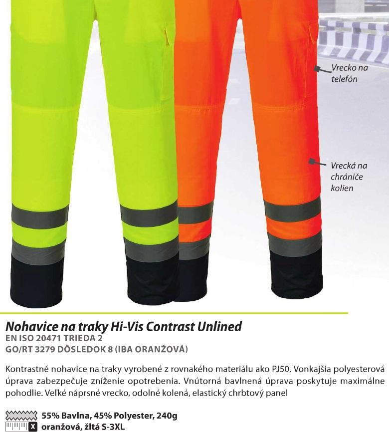 55a1b7a74113 Pracovné odevy - Reflexné nohavice Hi-Vis PORTWEST Texo tx52 s náprsen