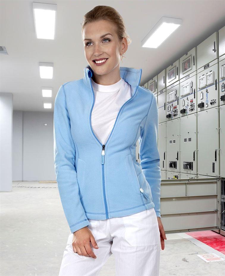 fc7130eb3 Pracovné odevy - dámska fleecová mikina YVONNE ARDON SVETLOMODRÁ ...