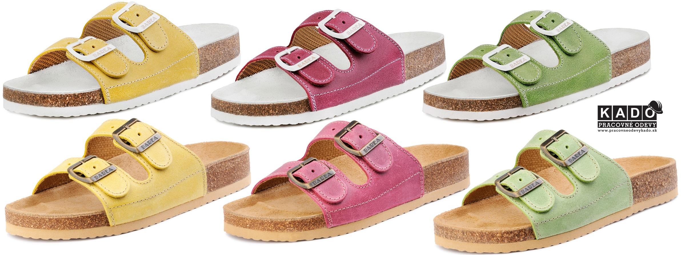 b05e669b1242 Zdravotná obuv-ortopedické šľapky 053 BAREA FAREBNÉ