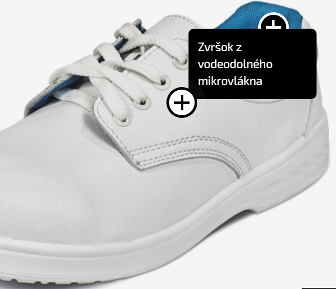 b2f13d77c6cf Pracovná obuv - MOKASÍNY RAVEN WHITE O2 BIELE