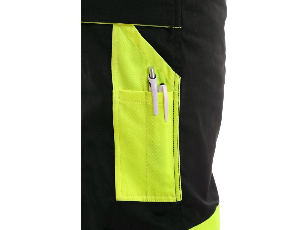 b0ec162babb Pracovné odevy - Montérkové Nohavice SIRIUS BRIGHTON CXS do pásu čierno žlté