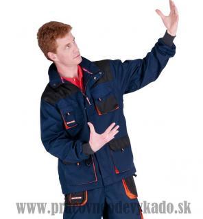 Pracovné odevy - Montérková bunda EMERTON NAVY LONG